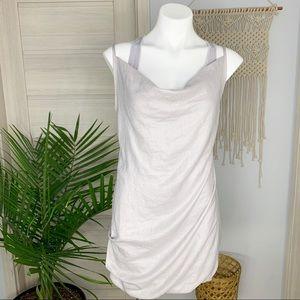 Renee C. | Layered Cowl Neck Racerback Grey Dress